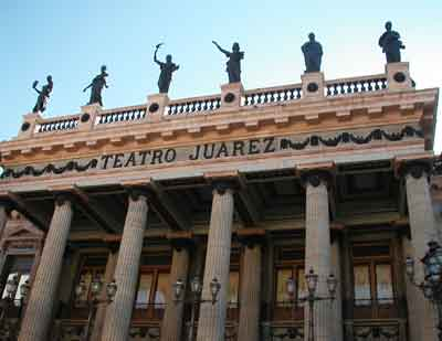 the ornate Teatro Juarez