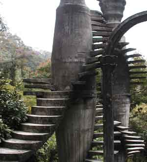 closer view of steps